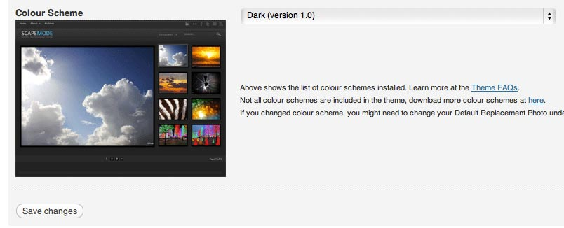 Choose your desired Colour Scheme with preview